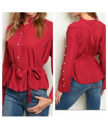 Camicia Rossa con perle...